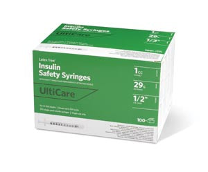 "Insulin Syringe, Fixed Needle, 1cc, 29G x ½"", 100/bx"