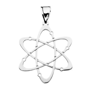 14k Gold Carbon Atom Science Pendant
