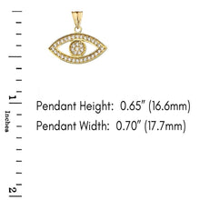 Load image into Gallery viewer, CaliRoseJewelry 10k Gold Evil Eye Diamond Pendant