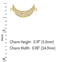 Load image into Gallery viewer, CaliRoseJewelry 14k Gold Sideways Crescent Moon Cubic Zirconia Bracelet