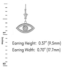 Load image into Gallery viewer, CaliRoseJewelry Sterling Silver Evil Eye Cubic Zirconia Pendant and Earrings Set