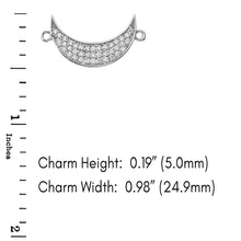Load image into Gallery viewer, CaliRoseJewelry 14k Gold Sideways Crescent Moon Diamond Bracelet