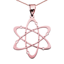 Load image into Gallery viewer, 10k Gold Carbon Atom Science Pendant Necklace