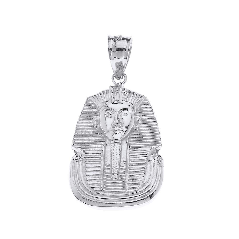 CaliRoseJewelry Sterling Silver Egyptian Pharaoh King TUT Pendant