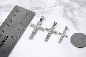 Sterling Silver INRI Crucifix Cross Catholic Jesus Pendant