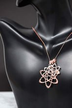 Load image into Gallery viewer, CaliRoseJewelry 10k Rose Gold Carbon Atom Science Reversible Charm Pendant Necklace