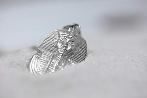 CaliRoseJewelry 10k Egyptian Pharaoh King TUT Pendant Necklace