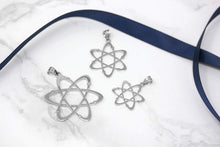 Load image into Gallery viewer, CaliRoseJewelry Sterling Silver Carbon Atom Science Reversible Charm Pendant