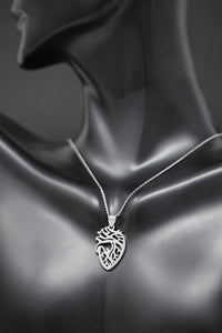 CaliRoseJewelry 14k Anatomical Heart Nurse Doctor Charm Pendant Necklace