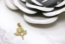 Load image into Gallery viewer, CaliRoseJewelry 14k Rose Stem Charm Pendant
