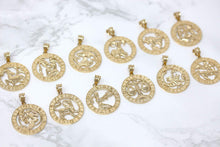 Load image into Gallery viewer, CaliRoseJewelry 10k Yellow Gold Zodiac Pendant Necklace