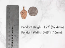 Load image into Gallery viewer, CaliRoseJewelry 10k Hindu Lord Ganesh Ganesha Head Elephant Hindu God of Fortune Charm Pendant