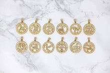 Load image into Gallery viewer, CaliRoseJewelry 14k Yellow Gold Zodiac Pendant Necklace