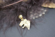 Load image into Gallery viewer, CaliRoseJewelry 10k Gold Tiger Head Charm Pendant