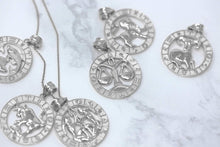 Load image into Gallery viewer, CaliRoseJewelry Sterling Silver Zodiac Pendant Necklace