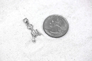 CaliRoseJewelry Sterling Silver Crab Cancer Zodiac June July Charm Pendant Necklace