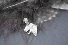 Load image into Gallery viewer, CaliRoseJewelry Sterling Silver Tiger Head Charm Pendant Necklace