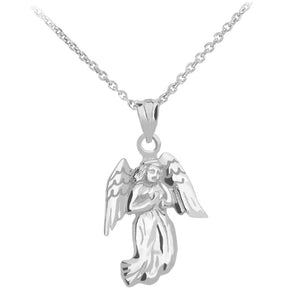 Praying Angel Pendant in Sterling Silver - solid gold, solid gold jewelry, handmade solid gold jewelry, handmade jewelry, handmade designer jewelry, solid gold handmade designer jewelry, chic jewelry, trendy jewelry, trending jewelry, jewelry that's trending, handmade chic jewelry, handmade trendy jewelry, mod-chic jewelry, handmade mod-chic jewelry, designer jewelry, chic designer jewelry, handmade designer, affordable jewelry