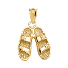 Load image into Gallery viewer, Hawaiian Sandals Pendant in Gold