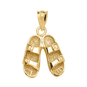 Hawaiian Sandals Pendant in Gold