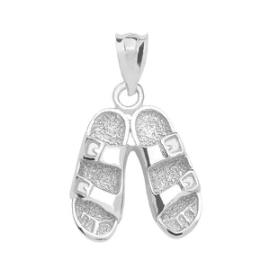 Hawaiian Sandals Pendant in Sterling Silver