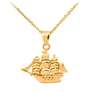 Sailboat Pendant in Gold