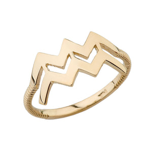 Zodiac Horoscope Rings in Gold