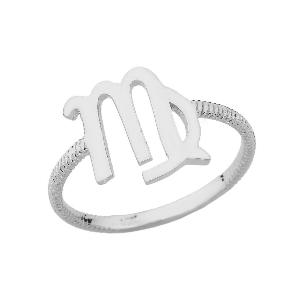 CaliRoseJewelry Sterling Silver Pisces Zodiac Horoscope Ring