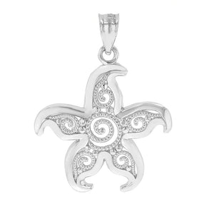 Beautiful Filigree Starfish Pendant in Gold