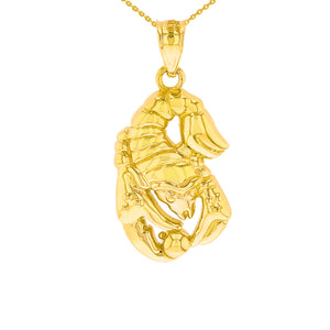 Scorpio Zodiac Scorpion Animal Pendant in Gold
