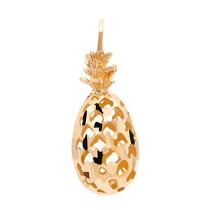 3D Pineapple Pendant in Gold
