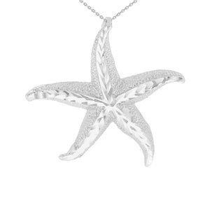 Beautiful Starfish Pendant in Sterling Silver - solid gold, solid gold jewelry, handmade solid gold jewelry, handmade jewelry, handmade designer jewelry, solid gold handmade designer jewelry, chic jewelry, trendy jewelry, trending jewelry, jewelry that's trending, handmade chic jewelry, handmade trendy jewelry, mod-chic jewelry, handmade mod-chic jewelry, designer jewelry, chic designer jewelry, handmade designer