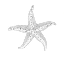 Load image into Gallery viewer, Beautiful Starfish Pendant in Sterling Silver - solid gold, solid gold jewelry, handmade solid gold jewelry, handmade jewelry, handmade designer jewelry, solid gold handmade designer jewelry, chic jewelry, trendy jewelry, trending jewelry, jewelry that's trending, handmade chic jewelry, handmade trendy jewelry, mod-chic jewelry, handmade mod-chic jewelry, designer jewelry, chic designer jewelry, handmade designer