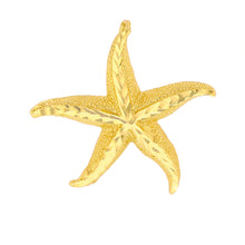 Load image into Gallery viewer, Beautiful Starfish Pendant in Gold - solid gold, solid gold jewelry, handmade solid gold jewelry, handmade jewelry, handmade designer jewelry, solid gold handmade designer jewelry, chic jewelry, trendy jewelry, trending jewelry, jewelry that's trending, handmade chic jewelry, handmade trendy jewelry, mod-chic jewelry, handmade mod-chic jewelry, designer jewelry, chic designer jewelry, handmade designer
