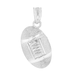 Football Pendant in Sterling Silver