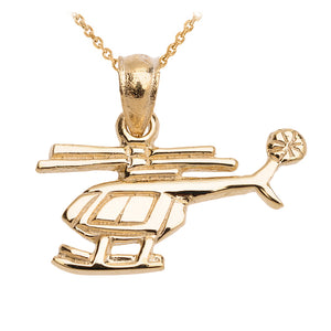 Helicopter Pendant in Gold