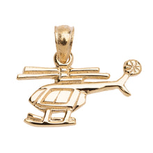 Load image into Gallery viewer, Helicopter Pendant in Gold