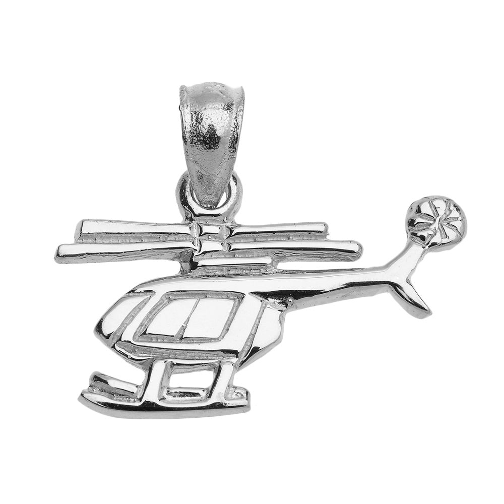 Helicopter Pendant in Sterling Silver
