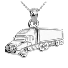 Load image into Gallery viewer, Big Rig Truck Driver Pendant in Sterling Silver