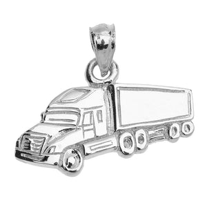 Big Rig Truck Driver Pendant in Sterling Silver