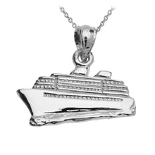 Load image into Gallery viewer, Cruise Ship Pendant in Sterling Silver