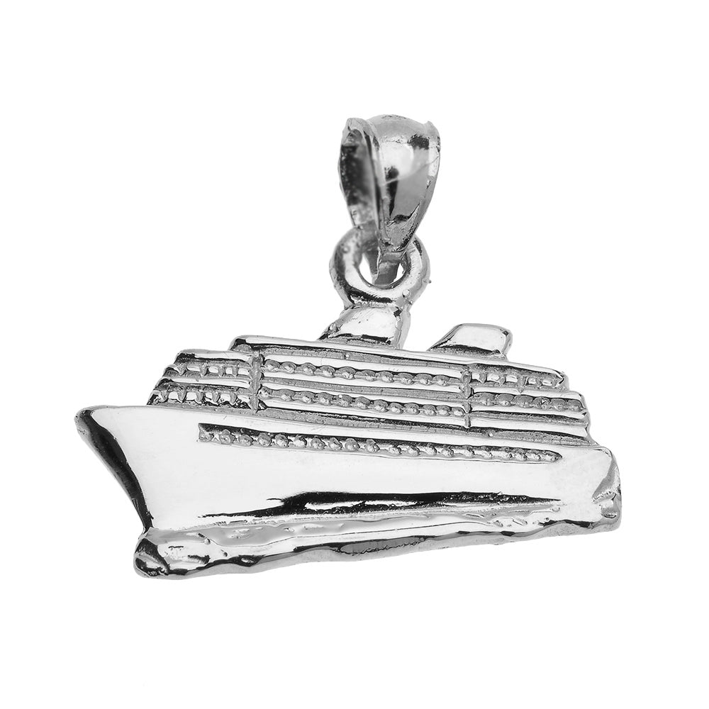 Cruise Ship Pendant in Sterling Silver