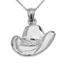 Load image into Gallery viewer, Cowboy Hat Pendant in Sterling Silver
