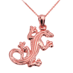 Lizard Reptile Pendant in Gold