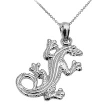 Load image into Gallery viewer, Lizard Reptile Pendant in Sterling Silver