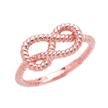 Load image into Gallery viewer, Twisted Style Rope Band Love Knot Promise Ring in Gold - solid gold, solid gold jewelry, handmade solid gold jewelry, handmade jewelry, handmade designer jewelry, solid gold handmade designer jewelry, chic jewelry, trendy jewelry, trending jewelry, jewelry that's trending, handmade chic jewelry, handmade trendy jewelry, mod-chic jewelry, handmade mod-chic jewelry, designer jewelry, chic designer jewelry, handmade designer, affordable jewelry
