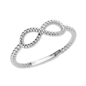 Twisted Rope Band Infinity Ring in Sterling Silver - solid gold, solid gold jewelry, handmade solid gold jewelry, handmade jewelry, handmade designer jewelry, solid gold handmade designer jewelry, chic jewelry, trendy jewelry, trending jewelry, jewelry that's trending, handmade chic jewelry, handmade trendy jewelry, mod-chic jewelry, handmade mod-chic jewelry, designer jewelry, chic designer jewelry, handmade designer, affordable jewelry