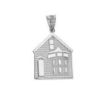 Load image into Gallery viewer, My House is a Home Pendant in Sterling Silver - solid gold, solid gold jewelry, handmade solid gold jewelry, handmade jewelry, handmade designer jewelry, solid gold handmade designer jewelry, chic jewelry, trendy jewelry, trending jewelry, jewelry that's trending, handmade chic jewelry, handmade trendy jewelry, mod-chic jewelry, handmade mod-chic jewelry, designer jewelry, chic designer jewelry, handmade designer, affordable jewelry