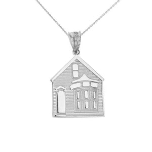 My House is a Home Pendant in Sterling Silver - solid gold, solid gold jewelry, handmade solid gold jewelry, handmade jewelry, handmade designer jewelry, solid gold handmade designer jewelry, chic jewelry, trendy jewelry, trending jewelry, jewelry that's trending, handmade chic jewelry, handmade trendy jewelry, mod-chic jewelry, handmade mod-chic jewelry, designer jewelry, chic designer jewelry, handmade designer, affordable jewelry