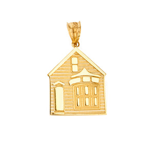 My House is a Home Pendant in Gold - solid gold, solid gold jewelry, handmade solid gold jewelry, handmade jewelry, handmade designer jewelry, solid gold handmade designer jewelry, chic jewelry, trendy jewelry, trending jewelry, jewelry that's trending, handmade chic jewelry, handmade trendy jewelry, mod-chic jewelry, handmade mod-chic jewelry, designer jewelry, chic designer jewelry, handmade designer, affordable jewelry